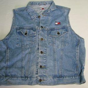 Vintage Tommy Hilfiger Denim Vest,  XL